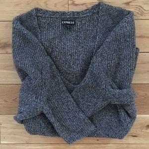 Express marled grey sweater